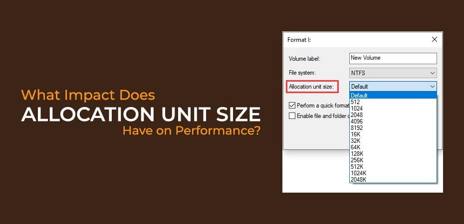 Allocation Unit Size Usb