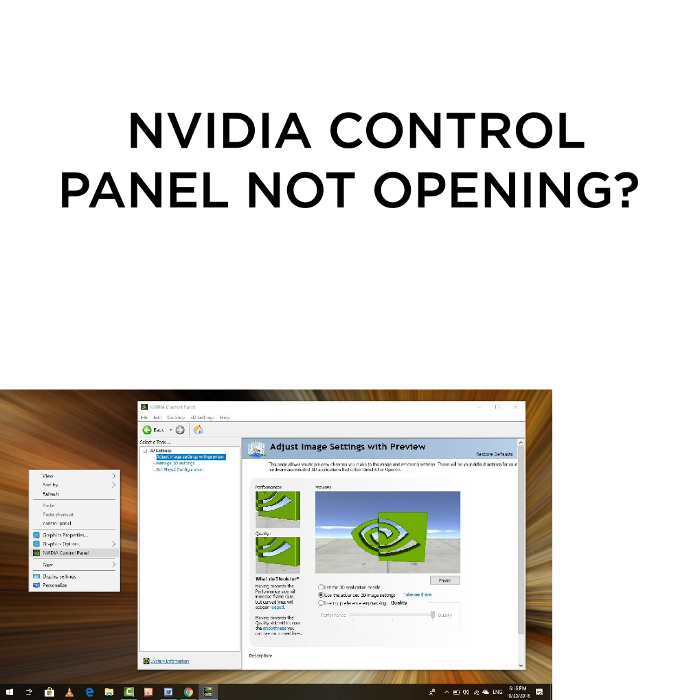Nvidia Control Panel Not Opening Win 10
