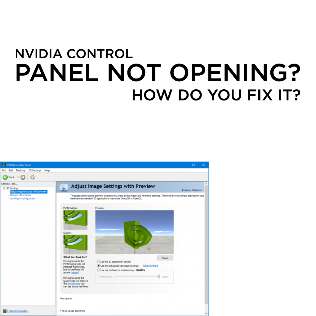 NVIDIA Control Panel Not Opening? How Do You Fix It?